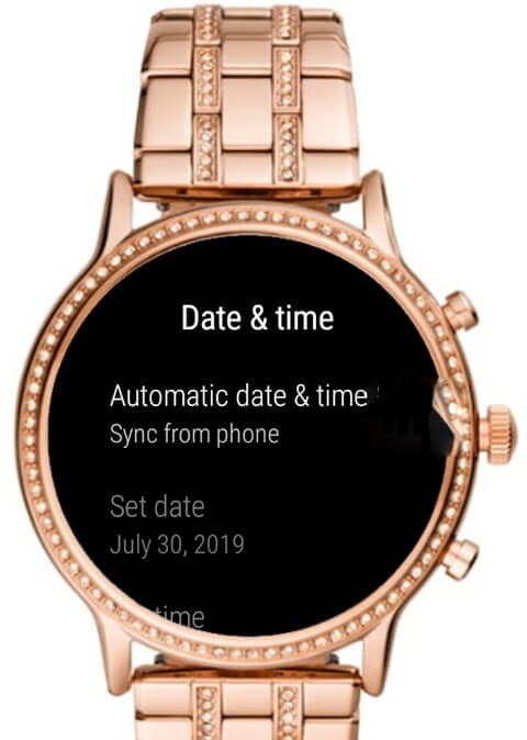 How to Change Time on Fossil Smartwatch - automatic date and time