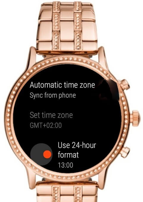 use 24-hrs format - How to Change Time on Fossil Smartwatch
