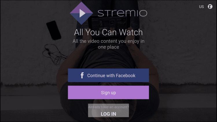 Login - How to Install Stremio on Firestick