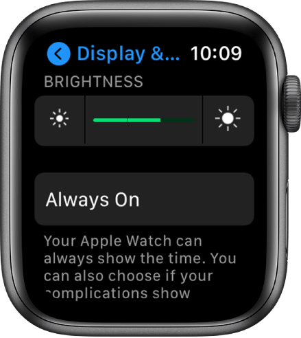 Display and brightness - How to save battery on  Apple Watch