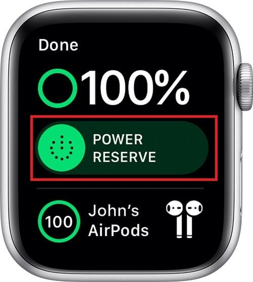 power reserve - How to save battery on  Apple Watch