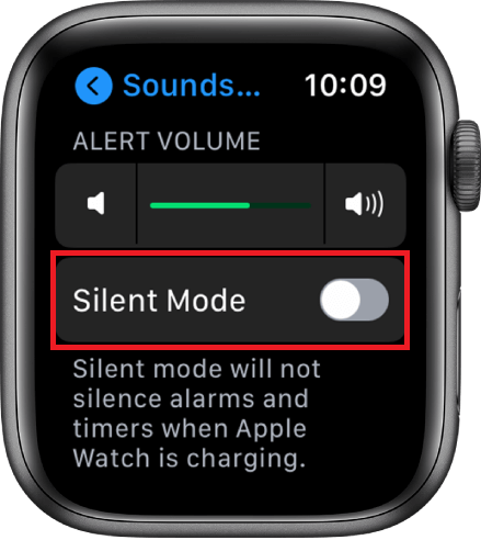 silent mode - How to save battery on  Apple Watch