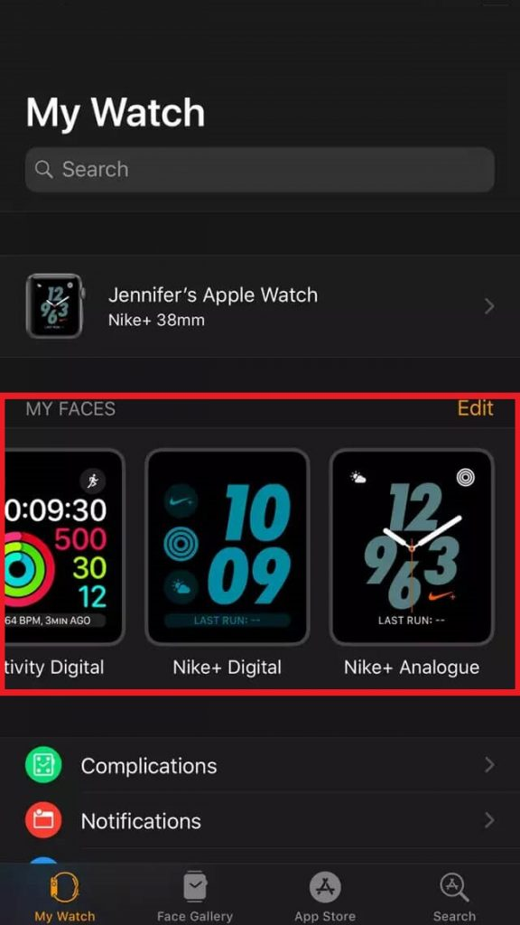 watch faces