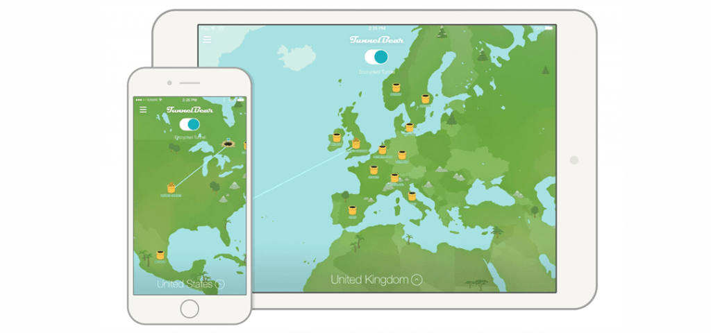 Best VPN for iPhone and iPad - tunnelbear