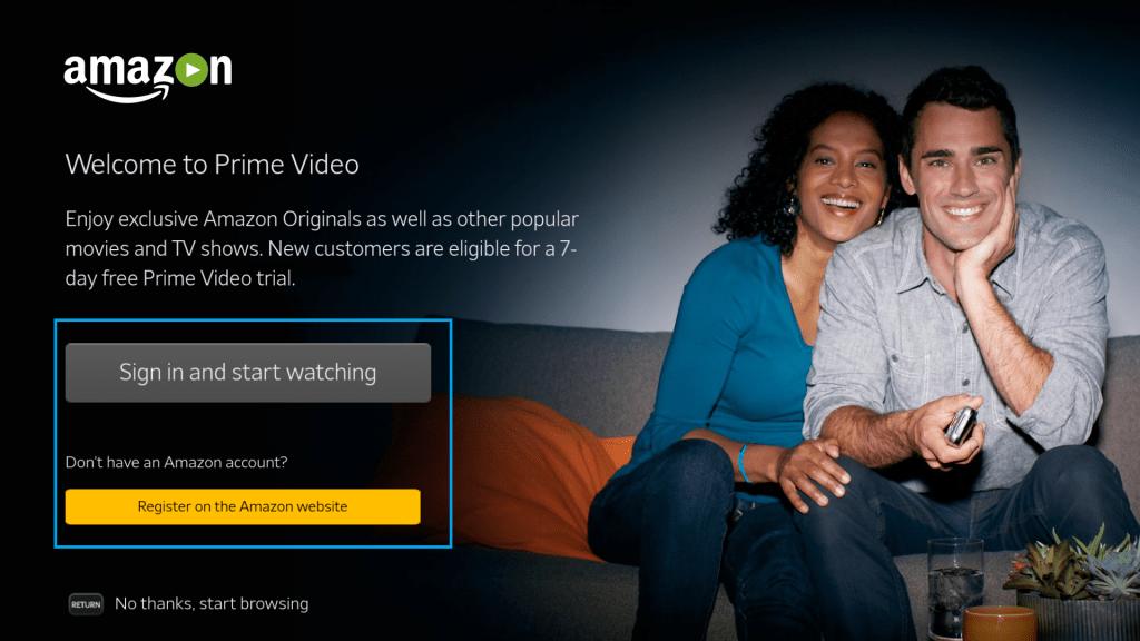 Amazon Prime on Sony TV