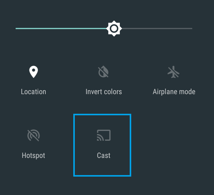 Cast icon on Android Control Center