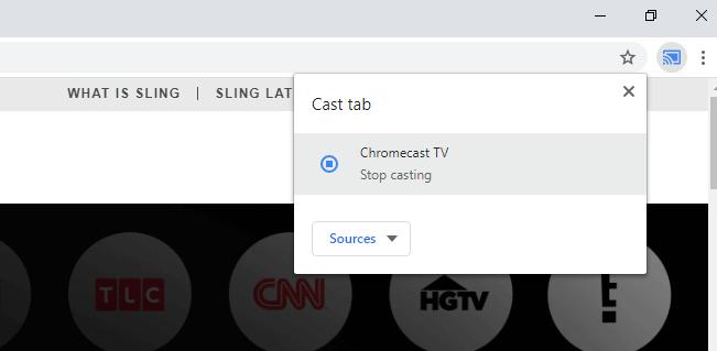 Chromecast Sling TV App