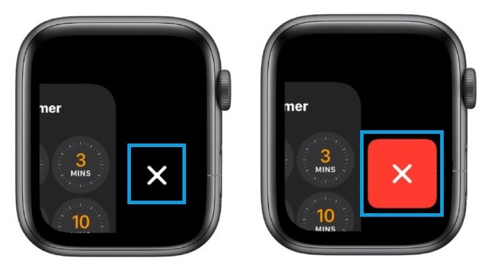 Close apps on Apple Watch