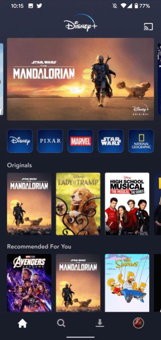 Disney Plus on LG TV