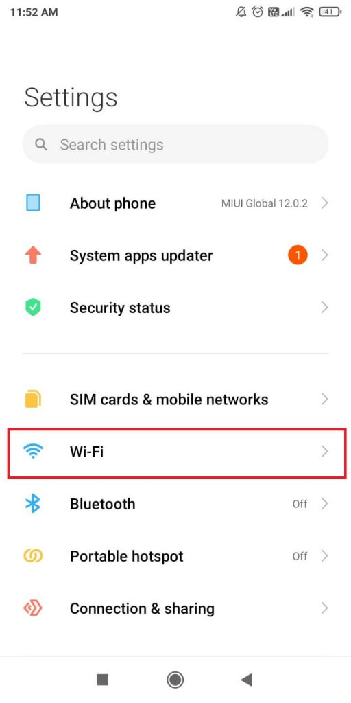 Forget a Wi-Fi Network