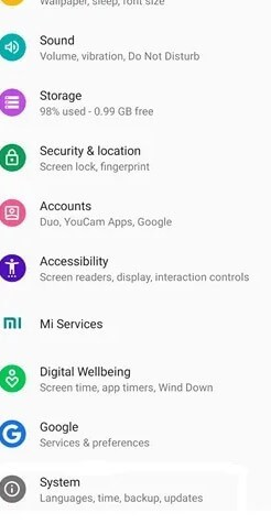 System - Google Photos Dark Mode