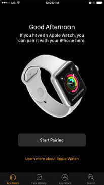 Start Pairing - How to Backup Apple Watch