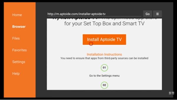 Aptoide TV on Firestick