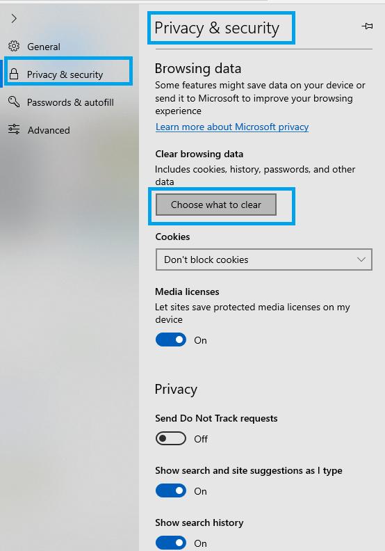 Microsoft Edge - How to Delete Cookies on Windows 10