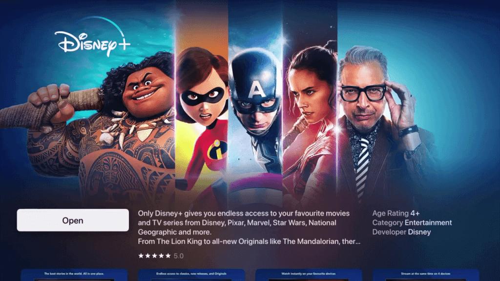 Open - Disney Plus on Apple TV