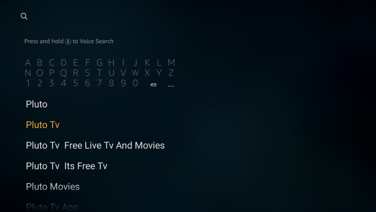 Pluto TV on Firestick