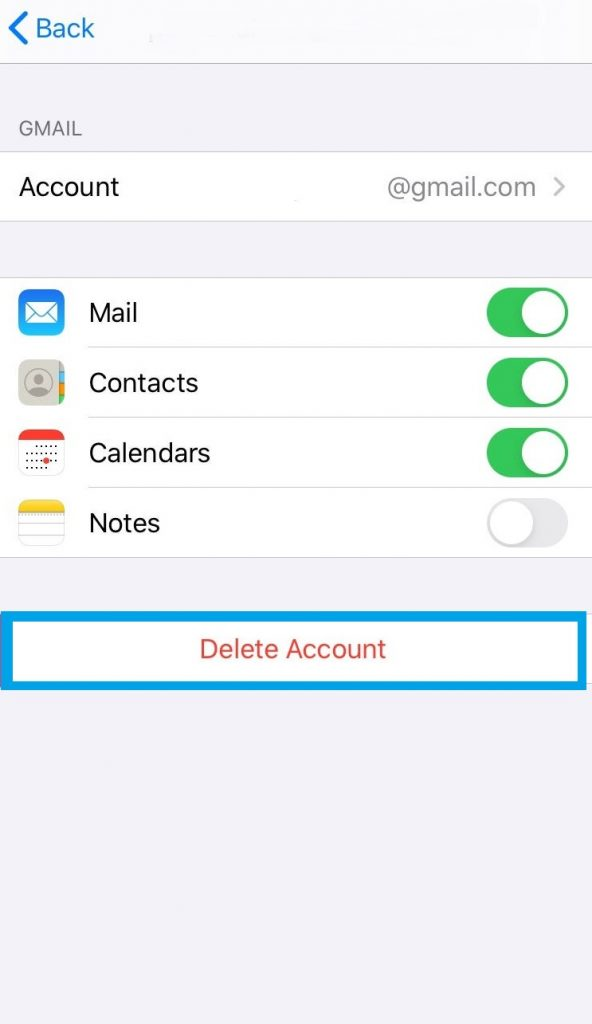 Remove an Email Account from iPhone
