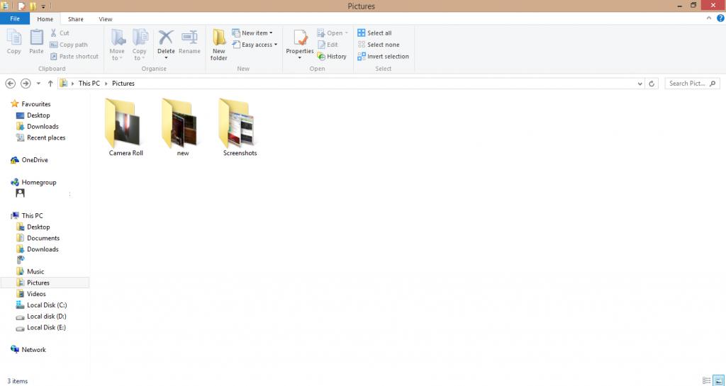 Screenshot on Dell