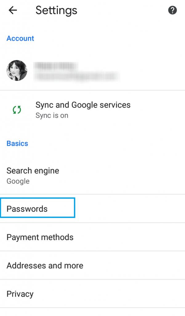 Settings Chrome app