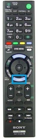 Sony TV remote Home Button