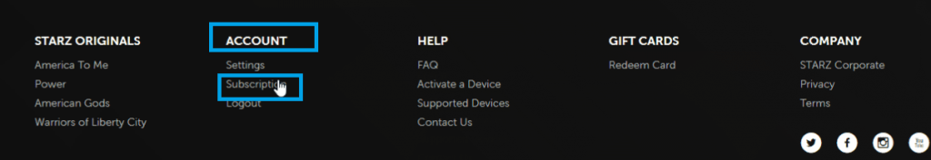 Starz Account - Subscription