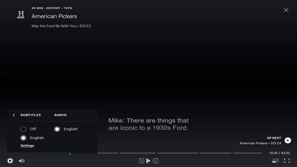 Subtitles on Hulu