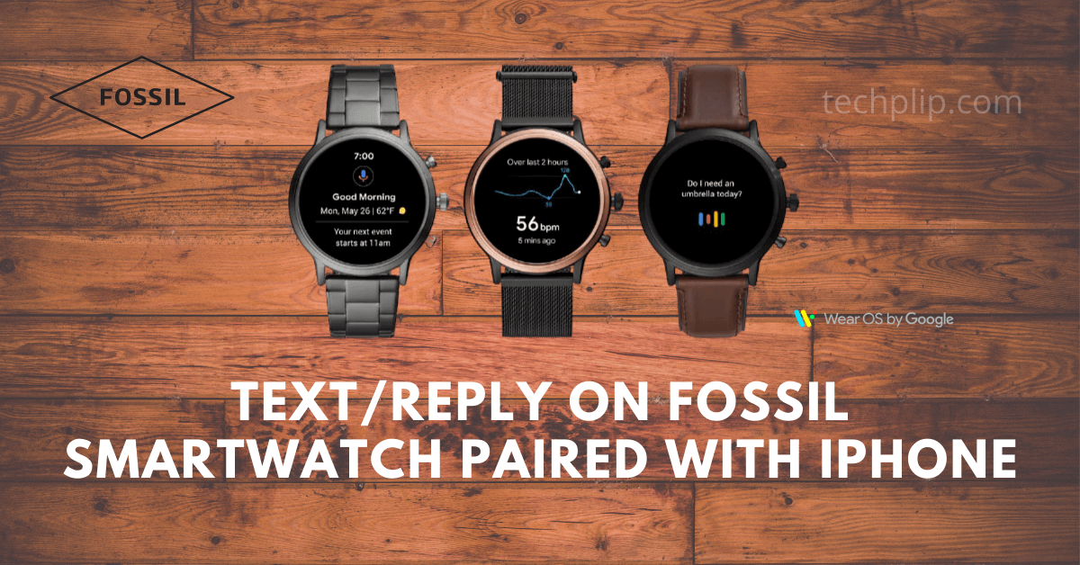 Can You Text/Reply on Fossil Smartwatch paired with iPhone