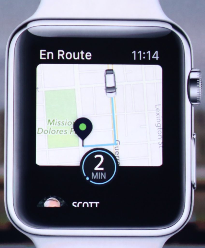 Uber Request on Apple Watch