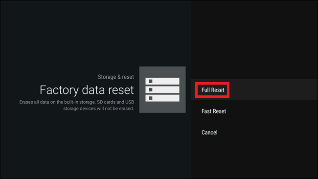 Reset MXQ Pro - full reset