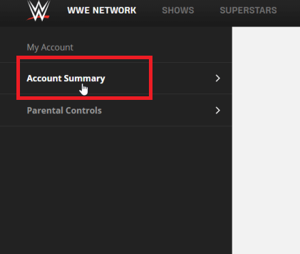 Account Summary - WWE Network