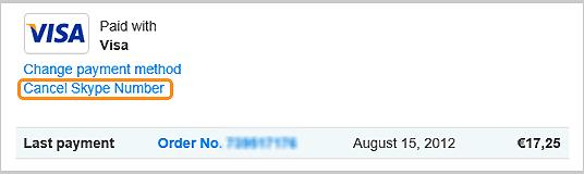 Cancel Skype Number