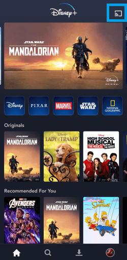 Select Cast icon