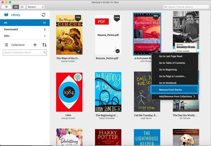 Delete Kindle Books from Computer Application