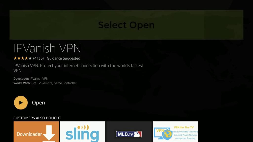 Open button