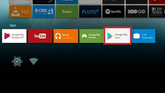 Play Store on Sony TV