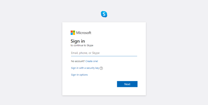 Sign in to Skype account