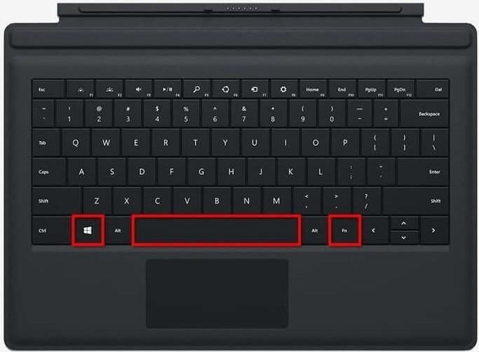 Screenshot on Surface Pro using Keyboard