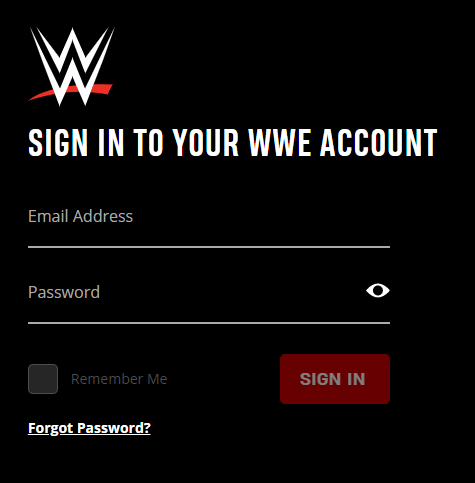 Sign in to WWE account