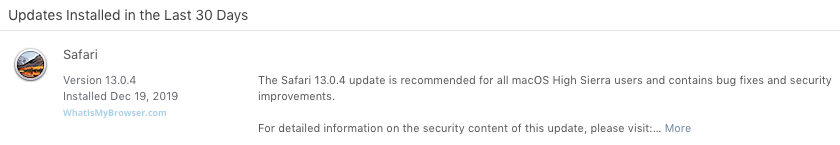 Update Safari