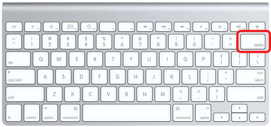 Delete on Mac