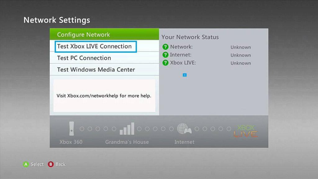 Xbox Network Settings