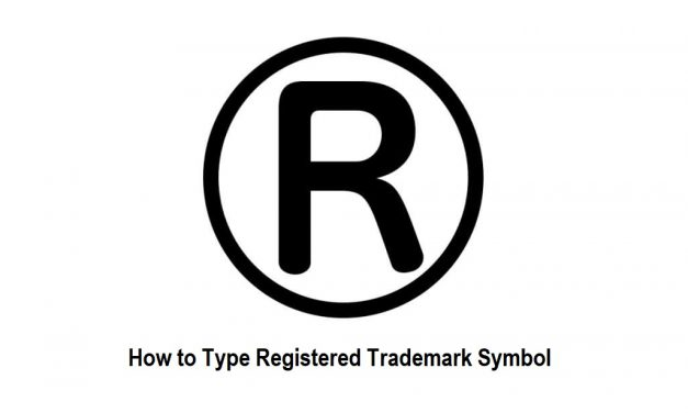 How to Type a Registered Trademark Symbol using Keyboard