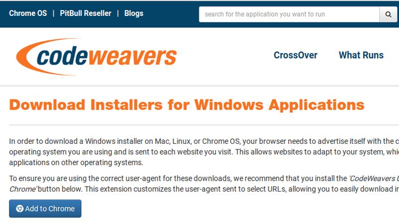 Installer CodeWeavers