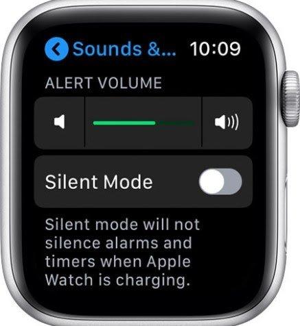 Changing notification volume