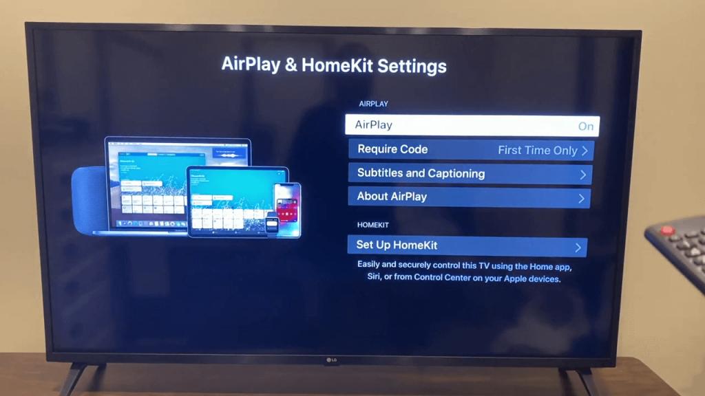 Apple TV on LG Smart TV