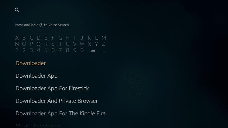 Downloader on Firestick