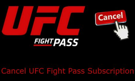 How to Cancel UFC Fight Pass Subscription