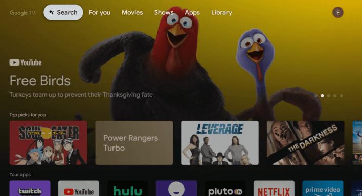 Paramount Plus on Google TV