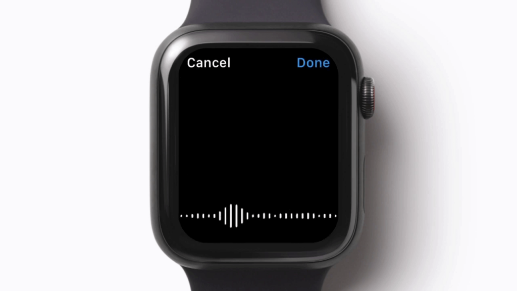 Dictation on Apple Watch