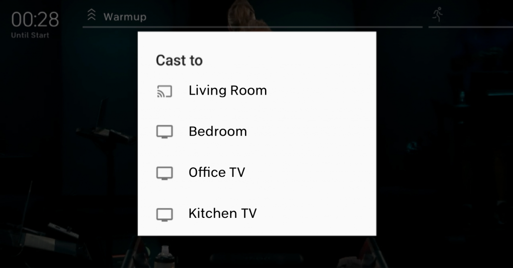 choose the tv.